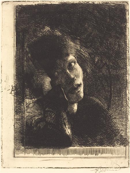 La Muse Accoudée, 1884 - Albert Besnard