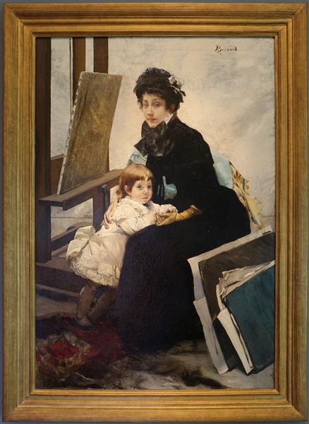 Madeleine Lerolle e sua figlia Yvonne, 1880 - Albert Besnard
