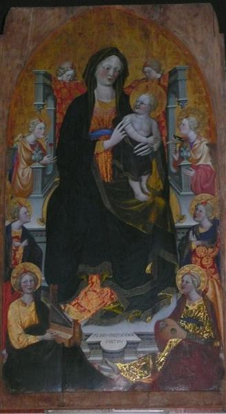 Virgin with child and angels, c.1430 - Álvaro Pires de Évora