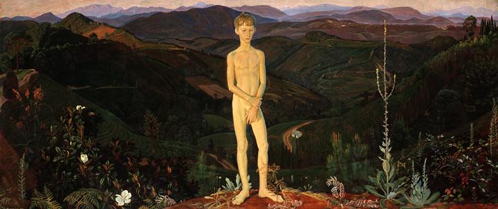 Boy and Mountains, 1972 - Dmitri Zhilinsky