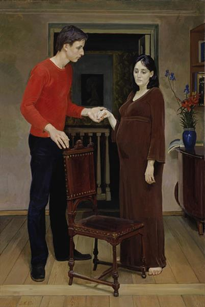 Young Family, 1980 - Dmitri Zhilinsky