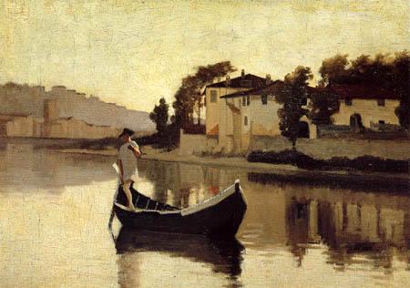 Arno near Casaccia, c.1863 - Джузеппе Аббати