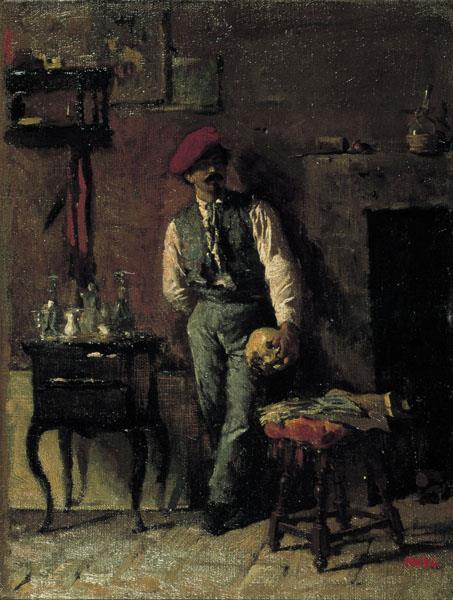 Retrat del pintor Joaquim Agrassot, c.1864 - Marià Fortuny