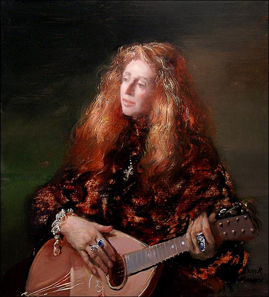 Pauline with Lute, c.2004 - Frank Mason