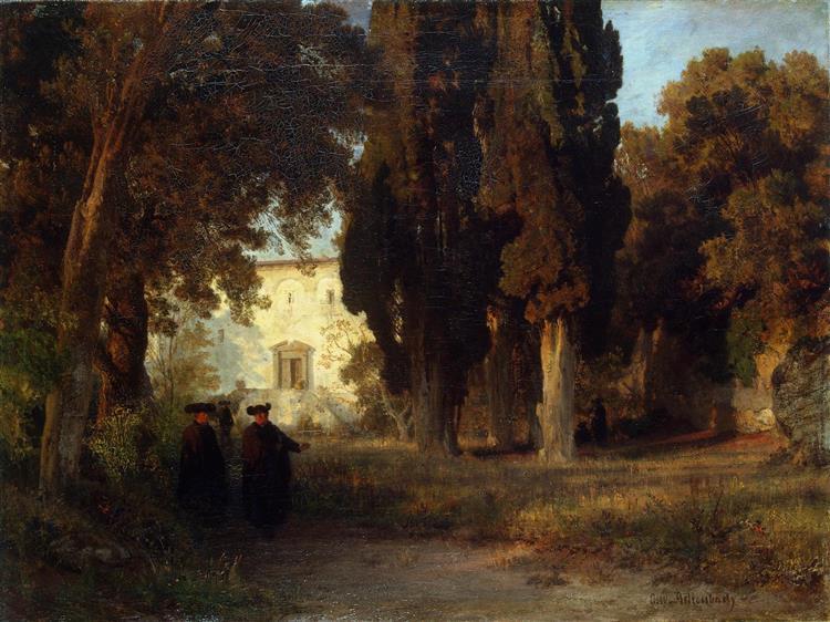 Klostergarten - Освальд Ахенбах