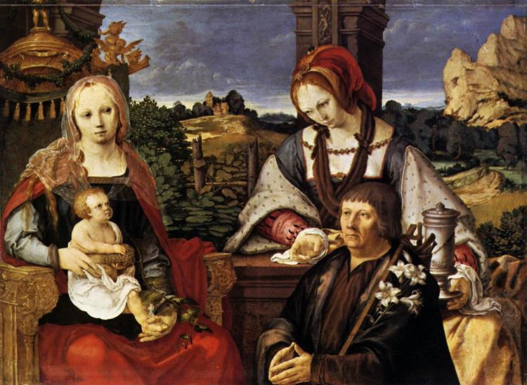 Virgin and Child with Mary Magdalen and a Donor, 1522 - Lucas van Leyden