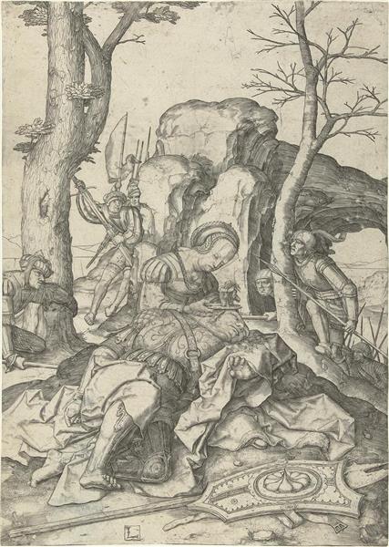 Samson and Delila, 1509 - Lucas van Leyden