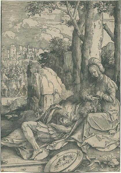 Samson and Delila, 1516 - Lucas van Leyden
