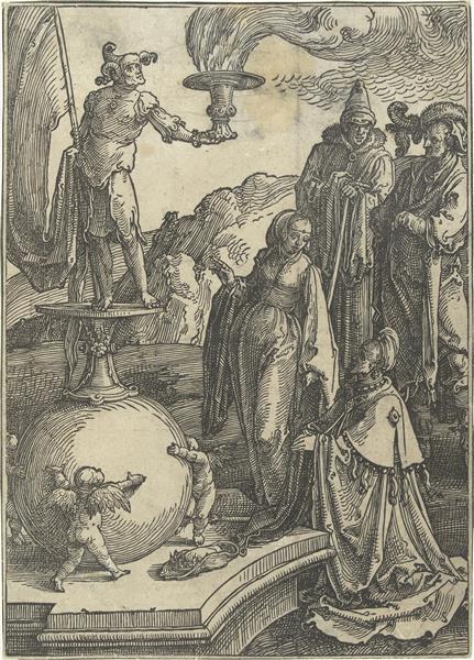 The idolatry of Solomon, c.1519 - Lucas van Leyden