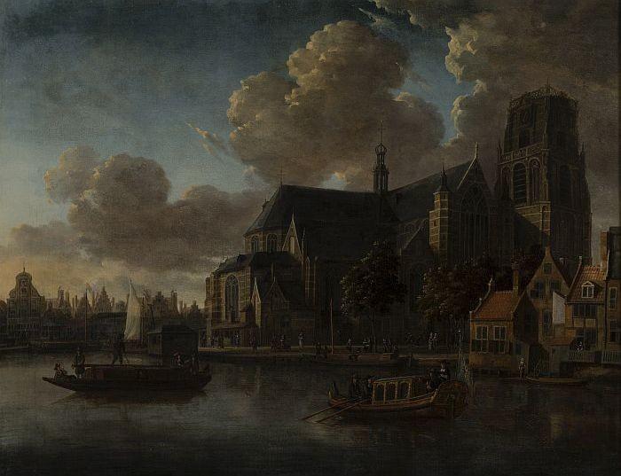 Gezicht Op De Laurenskerk Gezien Vanuit Noordoosten, 1676 - Abraham Storck