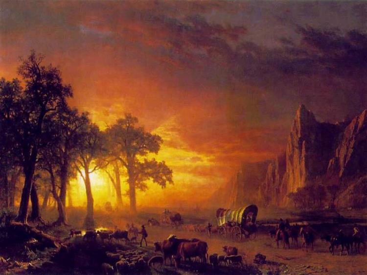 Emigrants Crossing the Plains - Albert Bierstadt