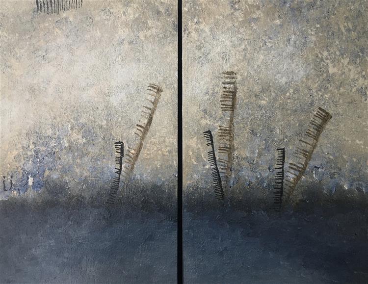 Light under the Floor, diptych, 2020 - Lech Jankowski