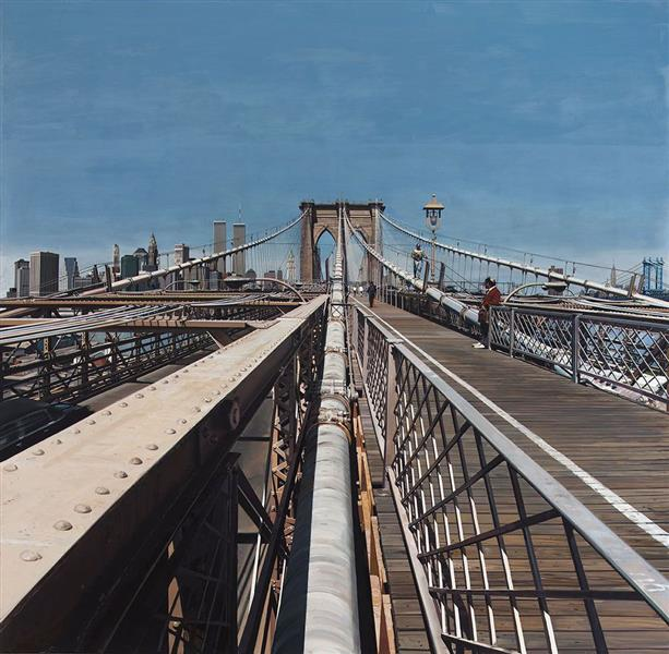 Brooklyn Bridge, 1991 - Річард Естес