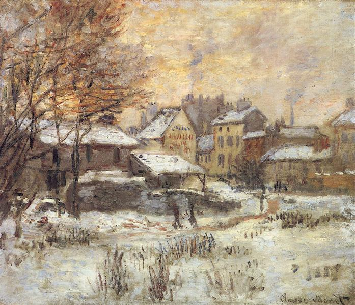 Snow Effect with Setting Sun, 1875 - Claude Monet