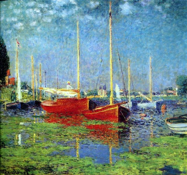 The Red Boats, Argenteuil, c.1875 - Claude Monet