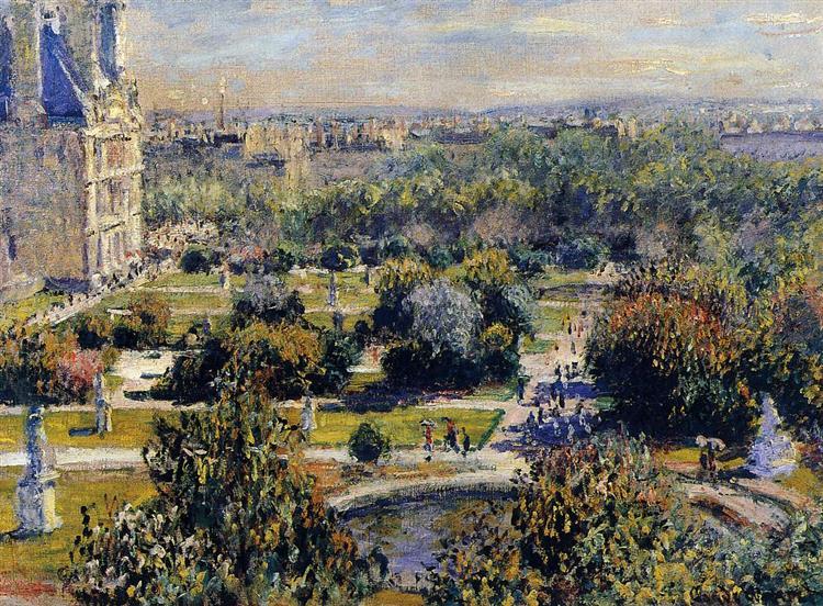 The Tuileries (Study), 1876 - Claude Monet
