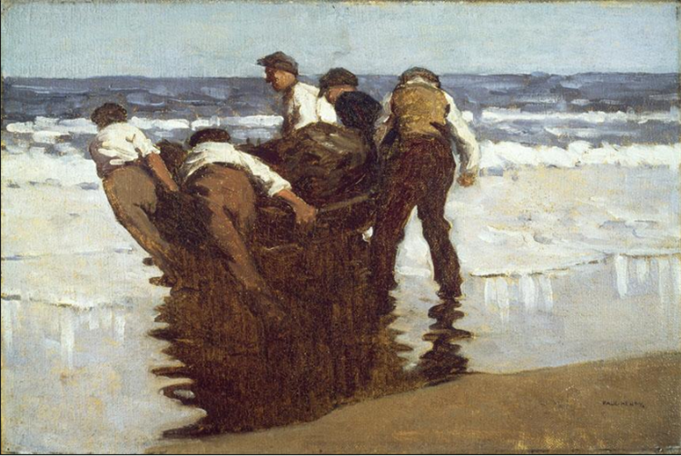 Launching The Currach, c.1910 - 1911 - Paul Henry