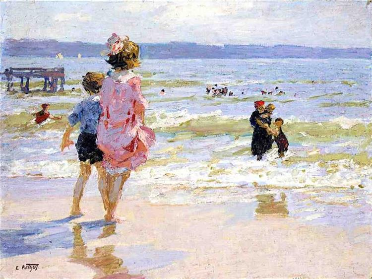 At the Seashore - Edward Henry Potthast