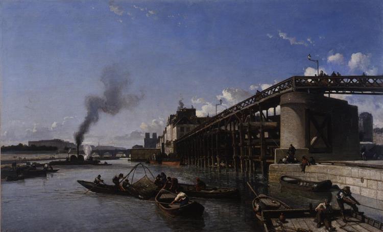 The Pont de l'Estacade, 1853 - Johan Jongkind