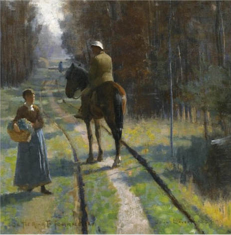 On the Road to Fontainebleau, 1884 - John Lavery