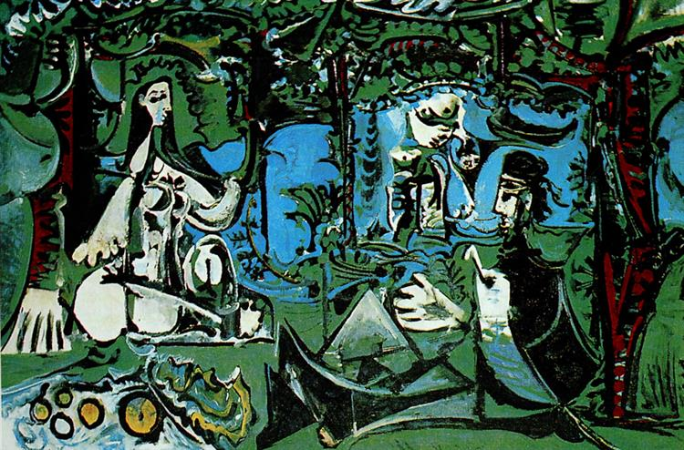 The Luncheon on the Grass (after Manet), 1960 - Пабло Пикассо