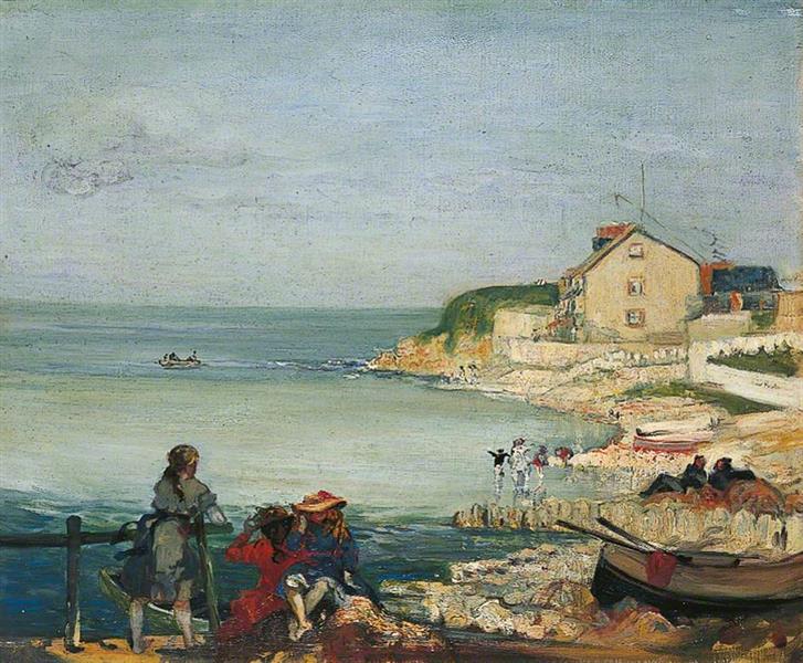 Beach Scene, Swanage, Dorset, 1900 - Charles Conder