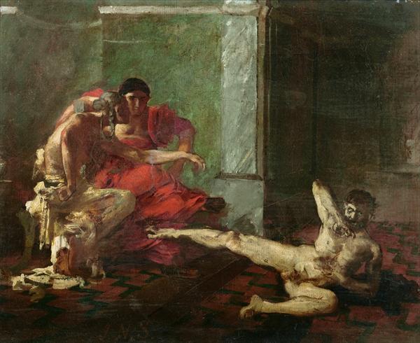 Locusta Testing Poison on a Slave, c.1870 - c.1880 - Joseph-Noël Sylvestre