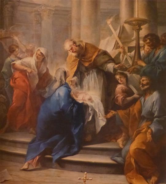 Presentation of Jesus in the Temple, 1725 - Шарль Андре Ван Лоо