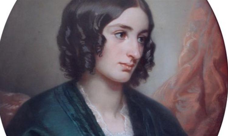 Portrait De Jeune Femme À La Robe Bleue, 1853 - Félix Louis Leullier