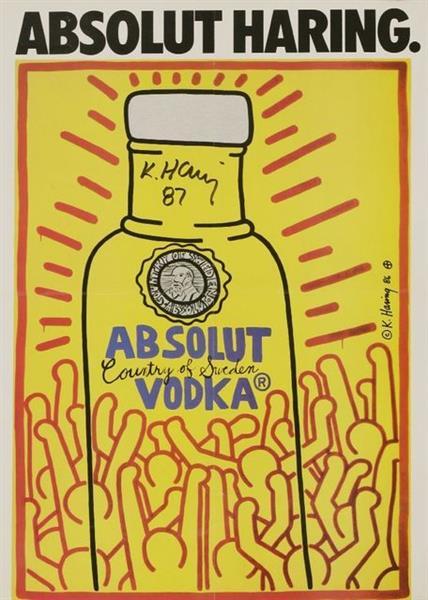Absolut Haring, 1986 - Кит Харинг