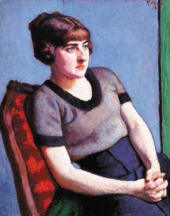 Femme Au Corsage Mauve, c.1915 - Roderic O'Conor