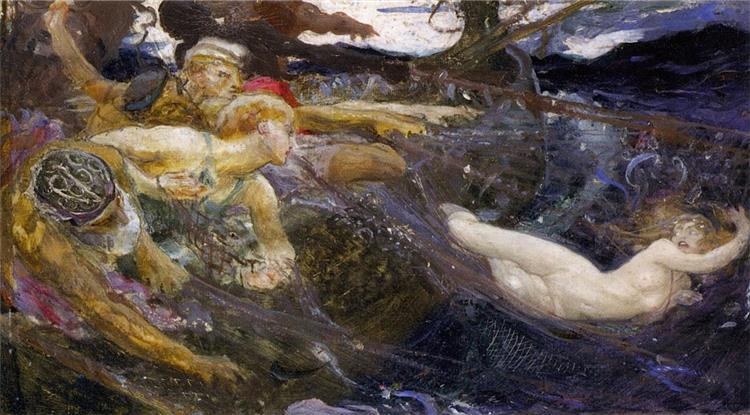 Study for The Sea Maiden, 1894 - Herbert James Draper