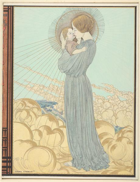 """Design for the Front Cover of """"L'evangile De Notre Seigneur Jesus-Christ Selon Saint Pierre"""", 1895 - Carlos Schwabe"""
