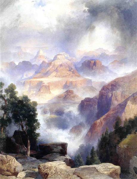 A Showery Day, Grand Canyon, 1919 - Thomas Moran