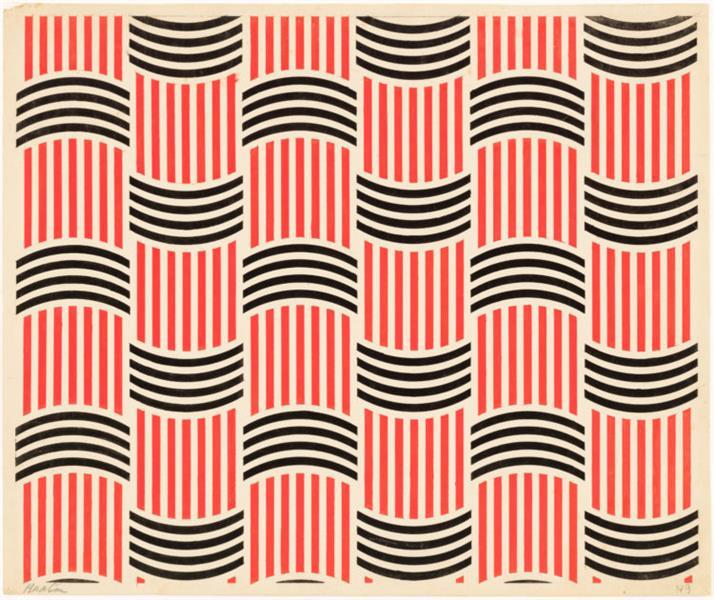 Varvara Stepanova, textile design, 1924. russian avant-garde