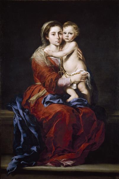 The Virgin of the Rosary, 1650 - Bartolomé Esteban Murillo