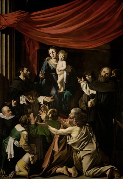 Madonna of the Rosary (Madonna del Rosario), 1607 - Caravaggio