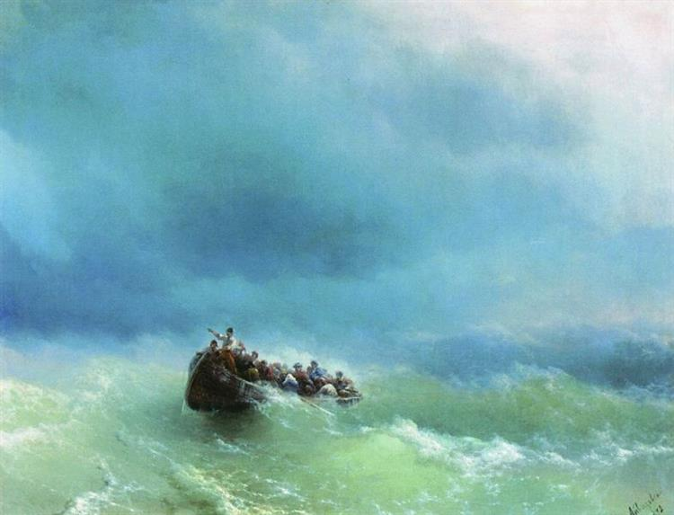 On the storm, 1872 - Ivan Aivazovsky