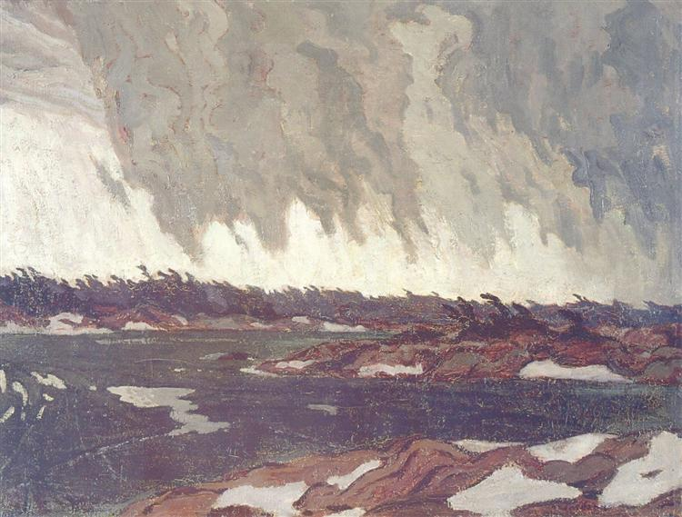 March Storm, Georgian Bay, 1920 - Олександр Янг Джексон