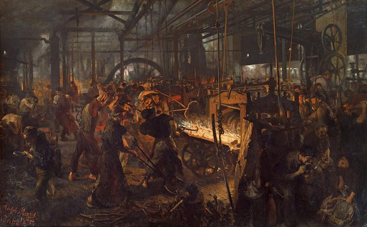 The Iron Rolling Mill (Modern Cyclopes), 1875 - Adolph von Menzel