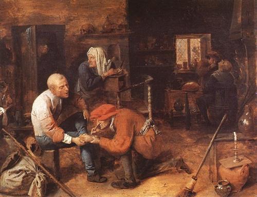 Operation on foot - Adriaen Brouwer