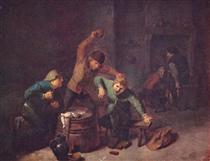 Smallholders Playing Cards - Adriaen Brouwer