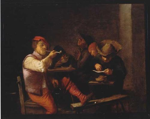 Smokers in an Inn - Adriaen Brouwer