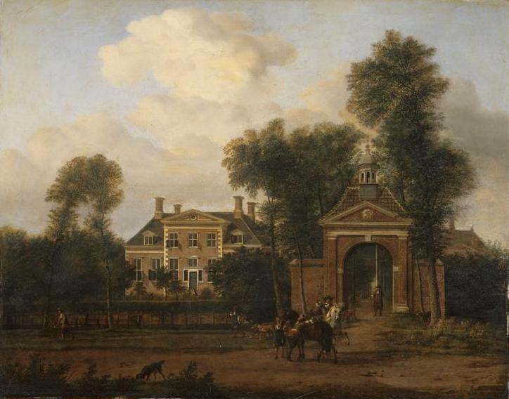 Harteveld house on the Vecht in Utrecht, 1652 - 1672 - Adriaen van de Velde
