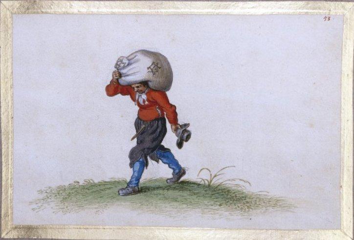 A Man Carrying a Sack - Adriaen van de Venne - WikiArt.org