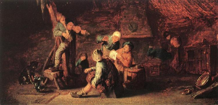 Village Feast, 1638 - Adriaen van Ostade
