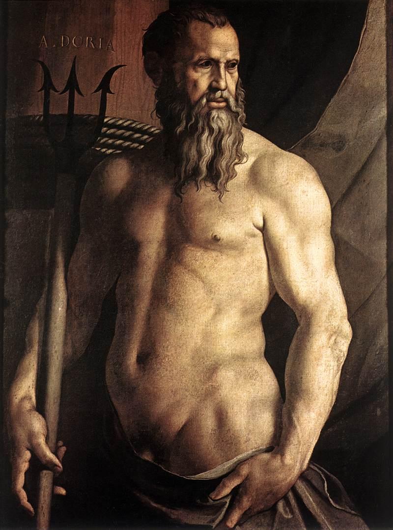 Portrait of Andrea Doria as Neptune, 1552