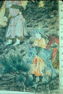 Iskandar at Israfil (detail) - Ahmad Musa