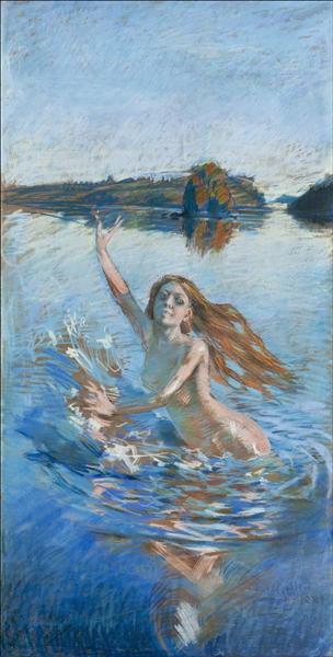 Study, 1889 - Акселі Галлен-Каллела