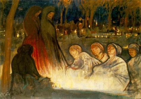 All Souls' Day, 1910 - Aladar Korosfoi-Kriesch